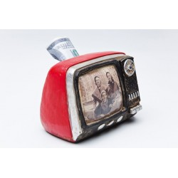Hucha TV Seventies Kare design