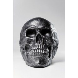 Figura Skull Head Silver Antique