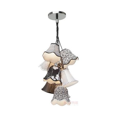 Lámpara de Techo Saloon Ornament B&W 9er