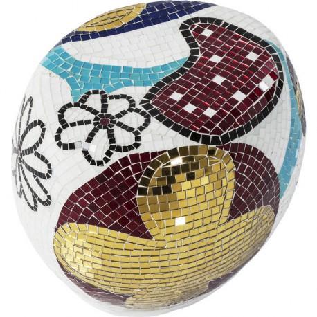 Taburete Mosaik Garden redondo pequeña