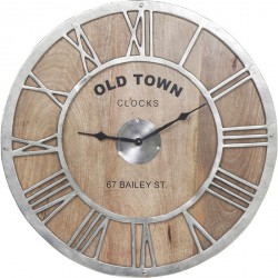 Reloj pared Old Town madera