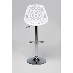 Silla de bar Ornament White
